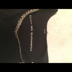 crimes and misdemeaners Tops - Crimes and Misdemeaners blk tank top w/bling S
